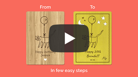 How to customise a card